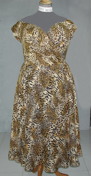 Leopard test dress